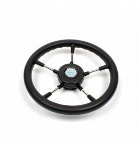 Steering Wheel 36cm Stainless Steel 5 Spoke with Polyurethane Grip