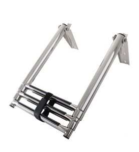 Stainless Steel Telescopic 3 Step Ladder
