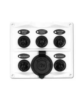 Guardian Toggle Switch Panel 5P with Cig Lighter Socket