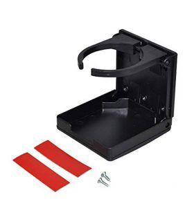 Seaflo Fold-Up Adjustable Drink Holder Black