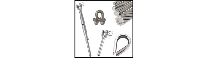 Stainless Steel Cable Wire Rope and Swage Fittings