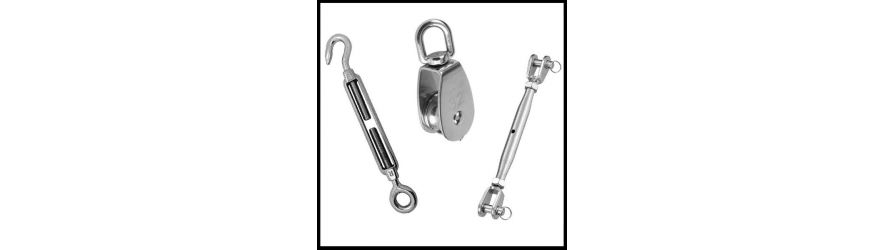316 Stainless Steel Rigging Screws, Turnbuckles and Rope Pulley Blocks