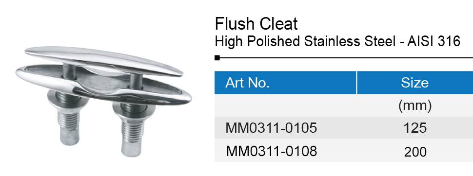 Stainless Steel Flush Cleat