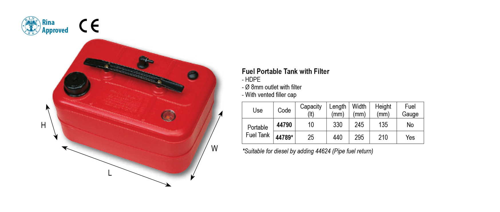 Fuel Tank 10 ltr