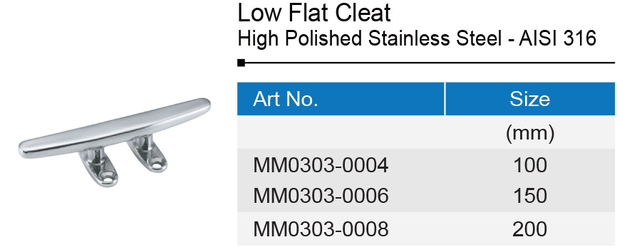 Stainless Steel Low Flat Cleat