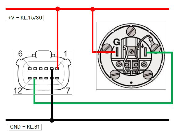 Vdo Fresh Water Level Sensor N02 240, Vdo Gauges Wiring Diagrams